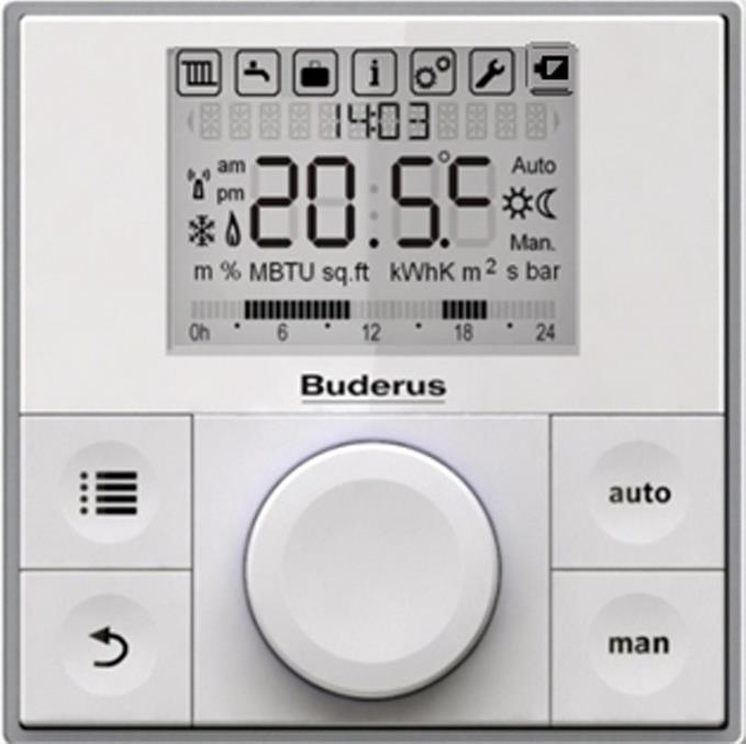 Buderus RC150 Dijital Modülasyonlu Kablolu Oda Termostatı