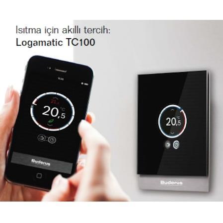 Buderus V1 TC 100 Kablosuz Programlanabilir Oda Termostatı